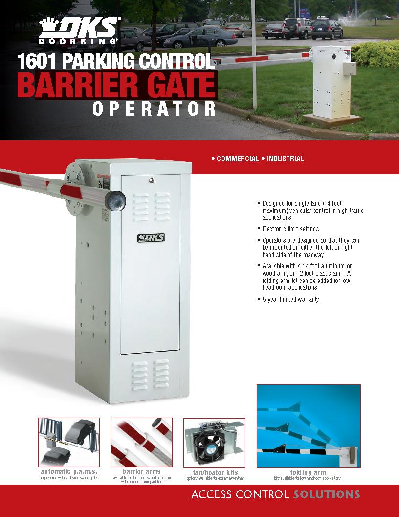 Doorking 1601 Parking Control Barrier Gate Operator
